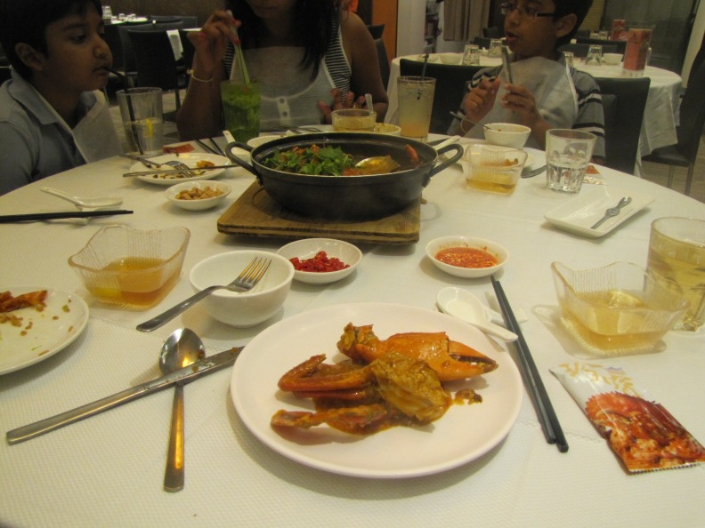 Chilly Crab at Jumbo restaurant Clarke Quay